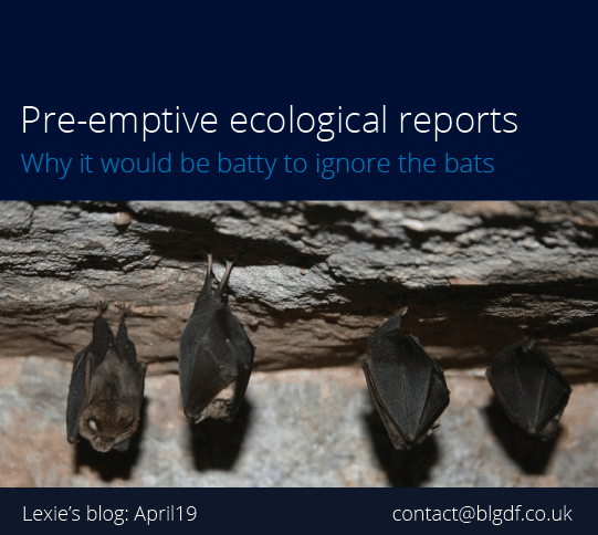 Pre-emptive ecological reports