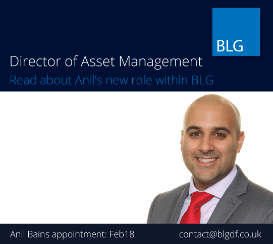 BLG appoints Anil Bains as Director of Asset Management