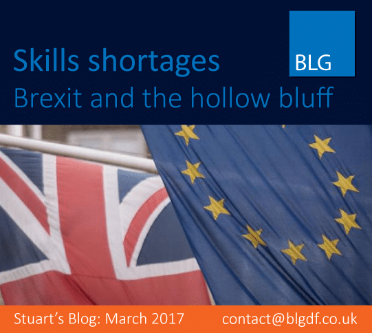 Stuart's Blog: Skills Shortages – Brexit and the Hollow Bluff