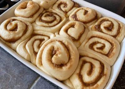 cinnamon buns uncooked