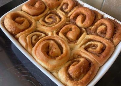 cinnamon buns cooked
