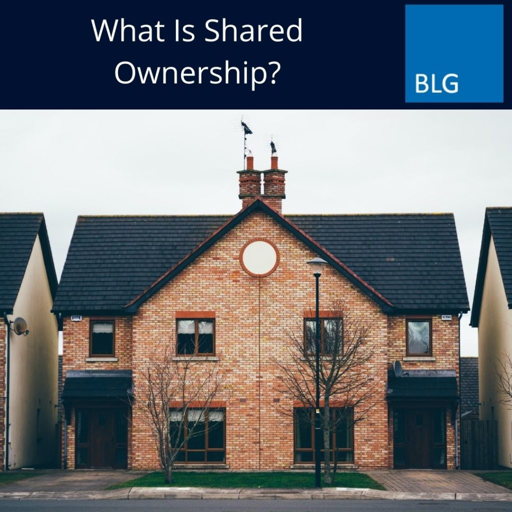 What is shared ownership graphic with image of house
