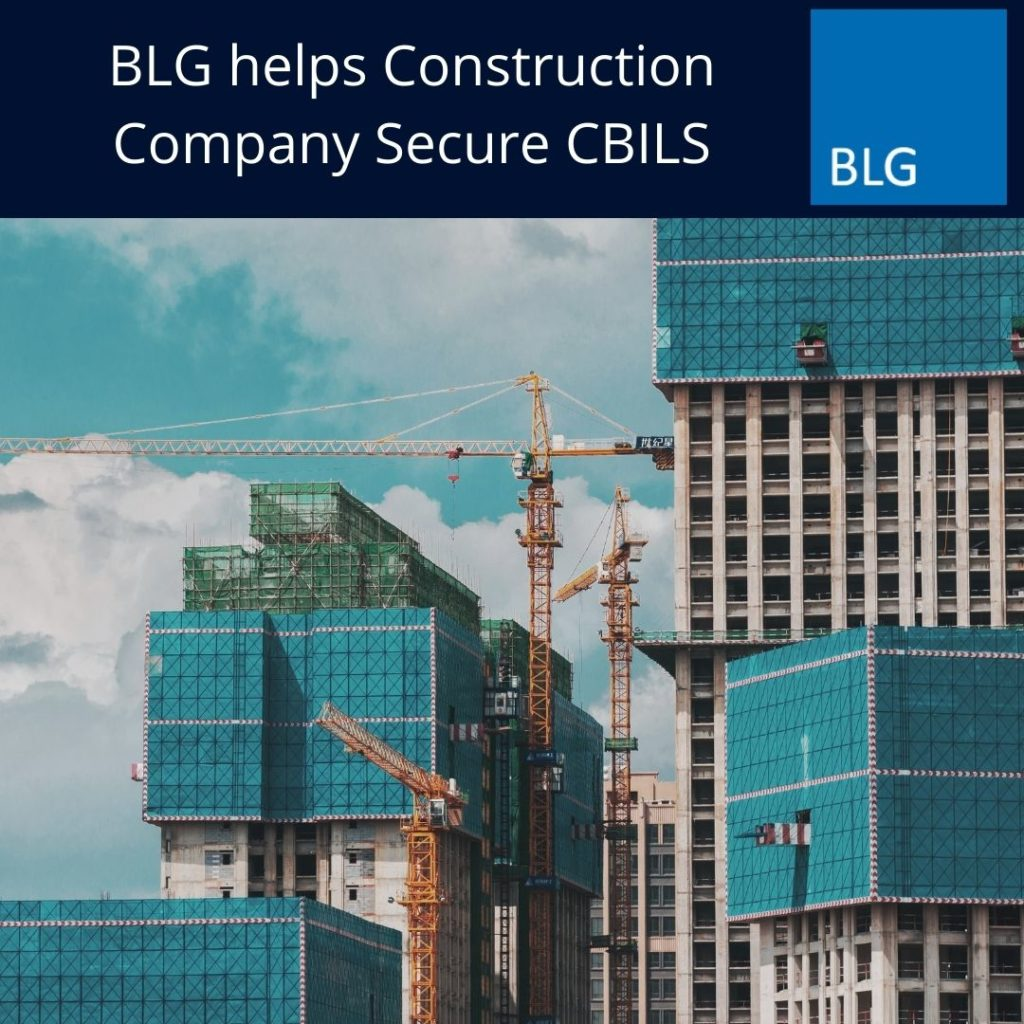 BLG helps Construction Company Secure CBILS Graphic