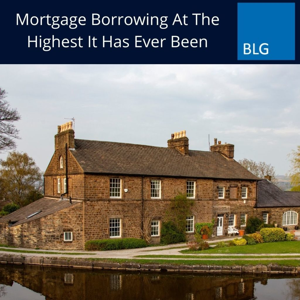 Mortgage Borrowing At The Highest It Has Ever Been graphic